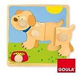 Goula - Puzzle Perro, Piezas de Madera (Diset 53068)
