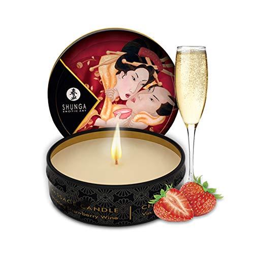 Shunga Massagekerze Romance, Erdbeere
