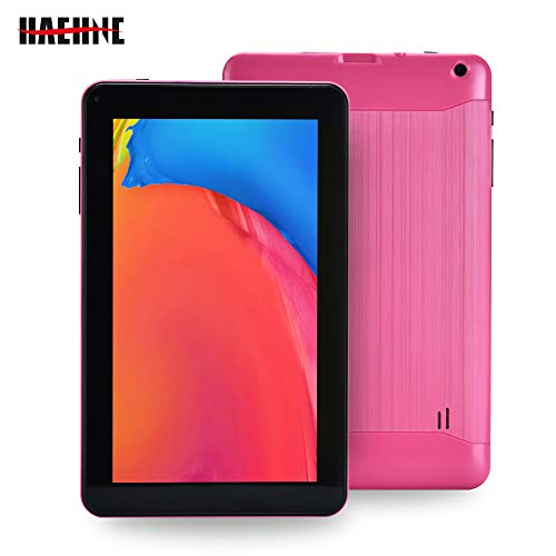 Haehne 9 Pollici Tablet PC, Google Android 6.0 Quad Core, 1.3GHz, 1GB RAM 16GB ROM, Doppia Fotocamera, WiFi, Bluetooth, per Bambini e Adulti, Rosa