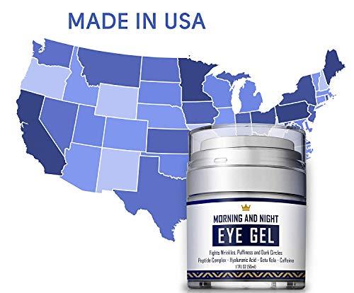 41qBUo5a2vL - Eye Cream - Dark Circles & Under Eye Bags Treatment - Reduce Puffiness, Wrinkles - Effective Anti-Aging Eye Gel with Hyaluronic Acid, Gotu Kola Extract and Caffeine - Refreshing Serum - 1.7oz