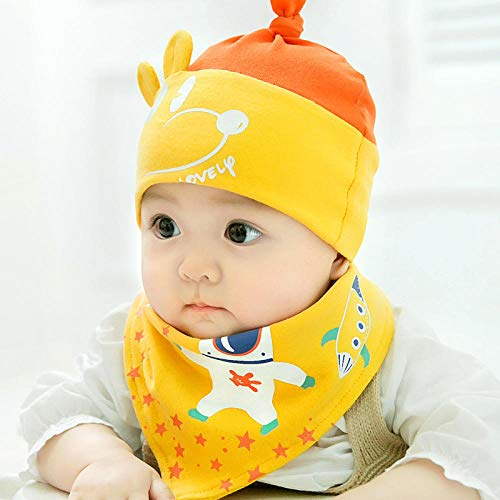 Aibccr Babymütze 0-3-6-9 Monate Frühling und Herbst Reine Baumwollpullover-Kappe Neugeborene fetale Kappe Männer und Frauen Neugeborene Babykappe