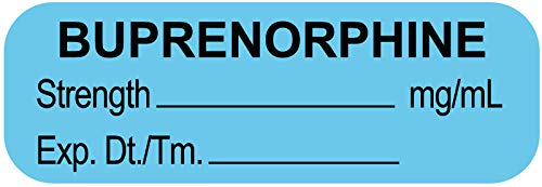United Ad Label Anesthesia Labels BUPRENORPHINE MG/ML, 1-1/2