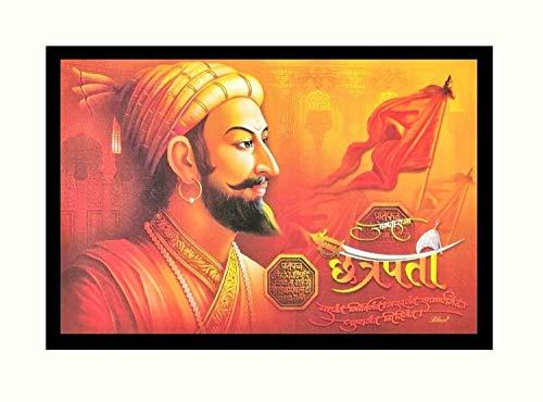 Shivaji Maharaj - Adhesivo decorativo para pared, diseño de cuadro sin marco, multicolor (vinilo, 50,8 x 61,8 cm)