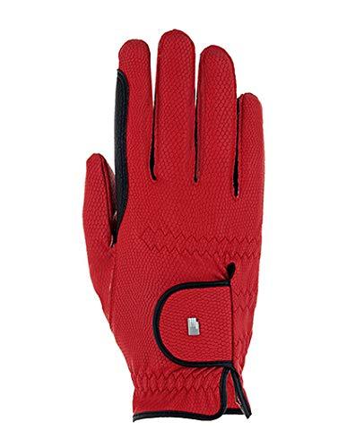 Roeckl Sports Lona - Guantes de equitación para mujer, compatibles con pantalla táctil, color rojo, 6