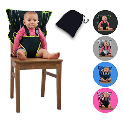 The Original Easy Seat Portable High Chair (Black) - Quick, Easy, Convenient...