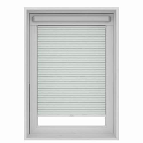 Gamma Plissee Dachfenster Rollo für VELUX Dachfenster… (Weiß, MK06 (78x118 cm))