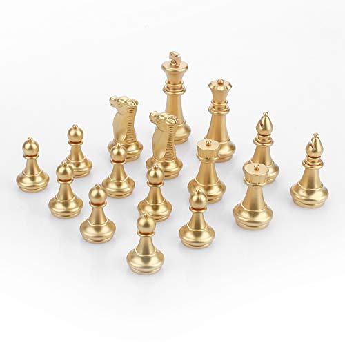Peradix Accesorios de Piezas de ajedrez(Oro y Plata)