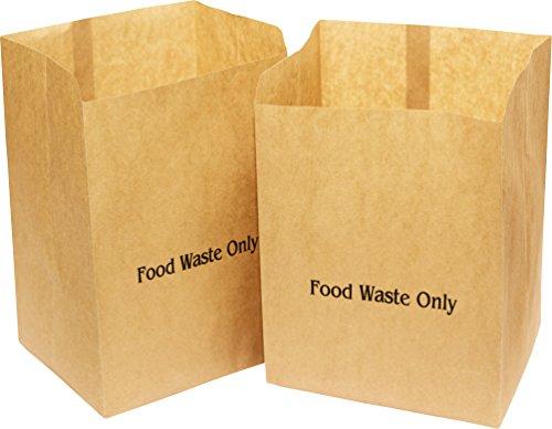 50 x Alina 10L bioabfalltüten Papier/Lebensmittel Abfallbehälter/biologisch abbaubarer brauner 10 Liter Papiersack