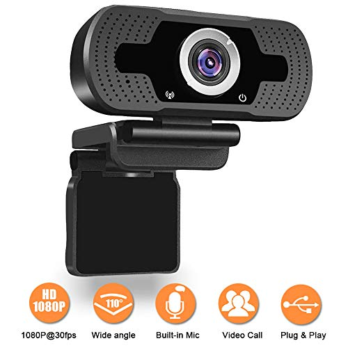 1080P Webcam, NP HD PC Webcam USB Mini Computer Camera Built-in Microphone - USB Web Camera for Live Streaming, Video Calling and Recording - Computer...
