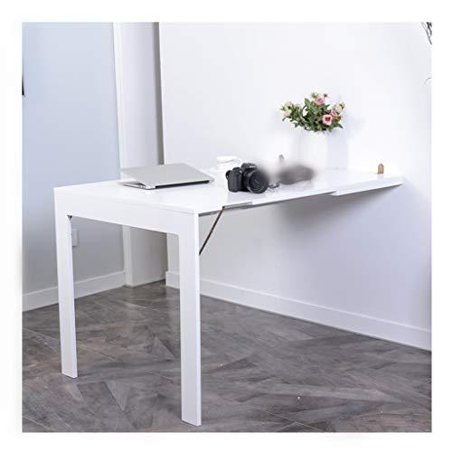 A-Fort Tisch Wandklapptisch, klappbarer Wand-Esstisch für Heimteleskope (Farbe : Weiß, größe : 90 * 60 cm)