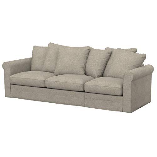 Soferia Funda de Repuesto para IKEA GRONLID sofá Cama de 3 plazas, Tela Strong Taupe, Beige