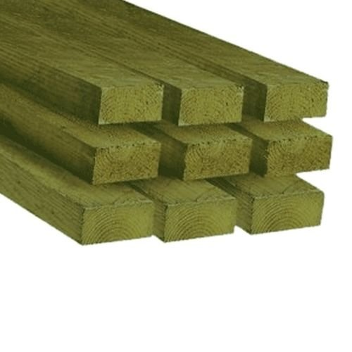 4 X 2 Timber (47 X 100MM) C16 Sawn Treated Timber 3MTR - Pack of 10'