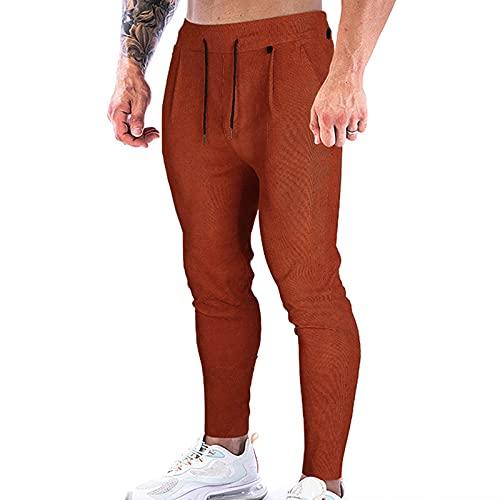 Pantalones de chándal Hombre Invierno Gimnasio Hombre Ropa Chandal Hombre Pantalon para Correr con Bolsillos