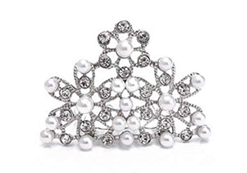 Price comparison product image Utopiat Mini Pearl Tiara Hair Piece for Girls / Inspired by Breakfast at Tiffany's
