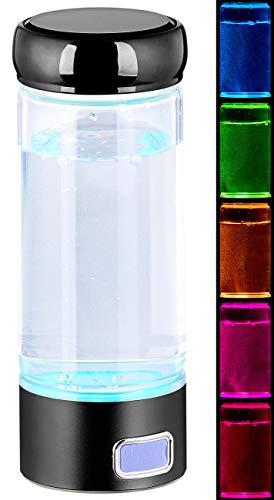 Rosenstein & Söhne Wasserstoff Generator: Mobiler Wasserstoff-Ionisator für Trinkwasser, mit Akku, 350 ml (Wasseraufbereiter)