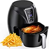 Muzili Air Fryer, Digital Mini Air Fryer 6-in-1 Oil Free Healthy Fryer Family-Size Capacity Oven/Cooker for Low Fat Cooking Timer and Fully Adjustable Temperature Control, LED Display