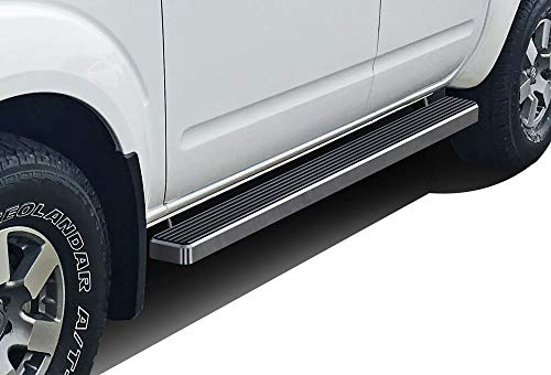 APS iBoard Running Boards 4 inches Compatible with Nissan Frontier 2005-2021 Crew Cab (Nerf Bars Side Steps Side Bars)