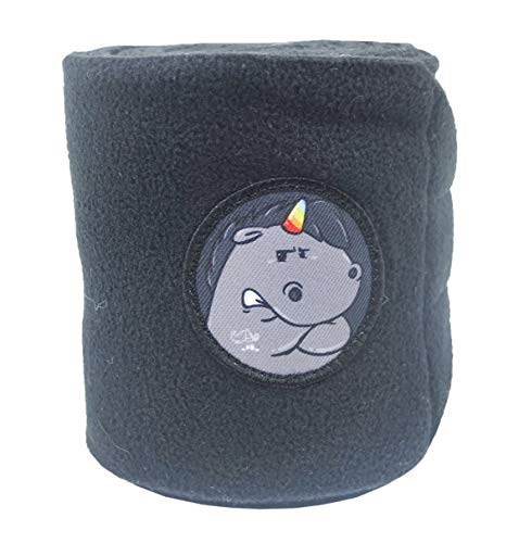 EQuest Bandagen Alpha Fleece Set GRUMMEL -mit Sticker- (2er inkl. Tasche) (Warmlbut)