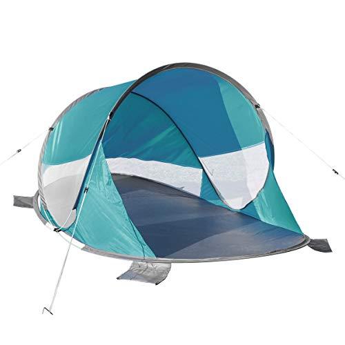 bonsport XXL Pop Up Strandmuschel mit UV50+ UV-Schutz - Strand Wurfzelt für 3-4 Personen