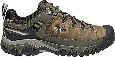 KEEN - Men's Targhee III Waterproof Leather Hiking Shoe, Canteen/Mulch, 17 US