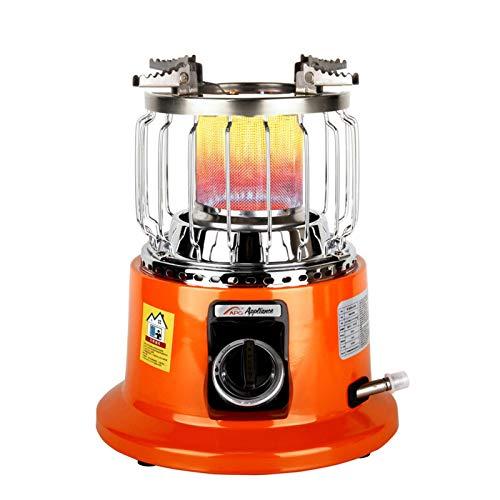 Calefactor y cocina de gas 2 en 1 radiadores portátiles de cerámica, calentador de calefacción APG 3000AF, escritorio de cerámica de calentamiento rápido con gas natural y líquido