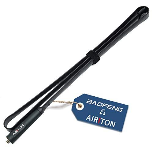 Airiton SMA Female 48.81inch Antenna Foldable Dual Band 2M,70CM VHF UHF 144 430Mhz CS Tactical Antennas for BAOFENG UV-5R UV-82 BF-F8HP UV-5RA GT-3 UV-5RE Series Ham Two Way Radio (1 Pack)