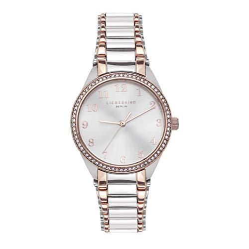 Liebeskind Berlin Damen Analog Quarz Uhr mit Edelstahl Armband LT-0247-MQ