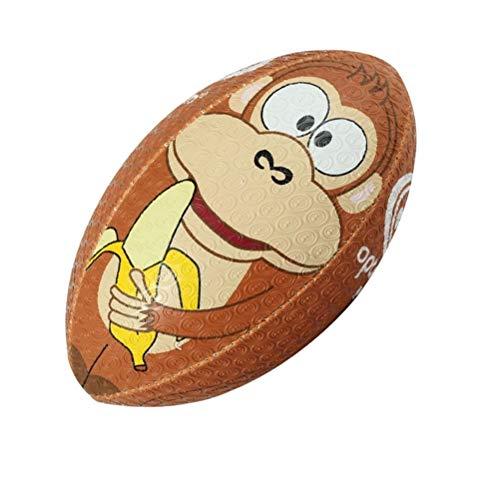 OPTIMUM Unisex-Adult Rugby Ball, Monkey, Größe 5, Mehrfarbig, 5