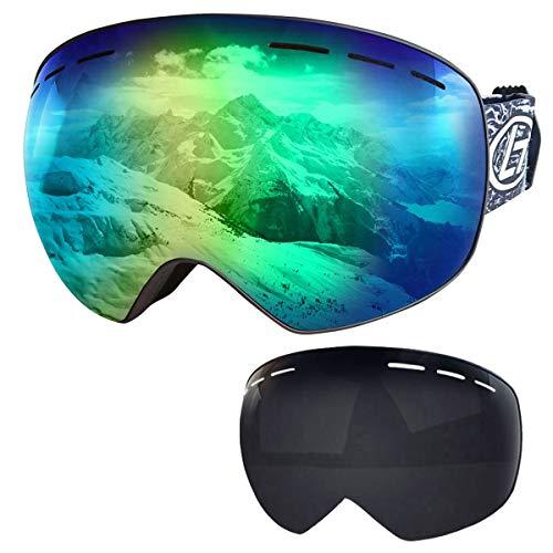 Boomersun Skibrille Winddicht UV-Schutz Cocker Kurzsichtigkeit Brille Reiten Motorrad Schneemobil Skibrille Winter Outdoor Sports Skibrille