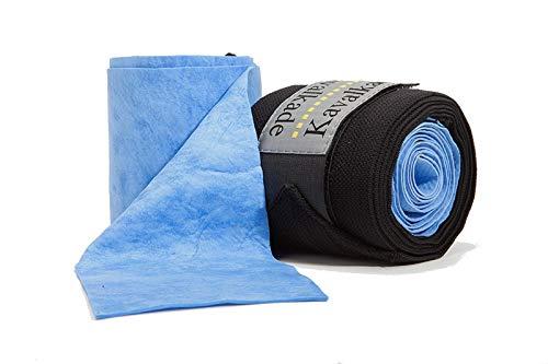 KAVALKADE Hydro Cool Bandagen, Paar, schwarz-hellblau, Warmblut
