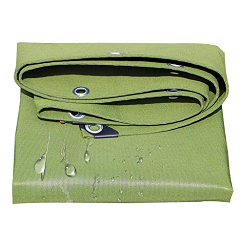 BYCDD Baches imperméable, Poly Tarp Cover Multi-Usage imperméable, Lavable et résistant à la moisissure,Green_1.5x1m