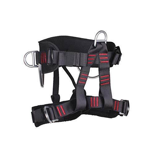 YANWE Universal Klettergurt, mit Verstellbaren Beinschlaufen Hüftgurt,Mehrzweck Klettergurt Taille Hüfte Schutz Gürtel für Bergsteigen Baumklettern