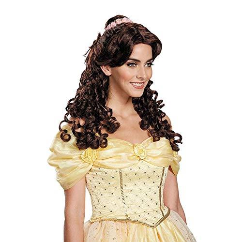 Pruik Belle uit Belle en het Beest voor vrouw