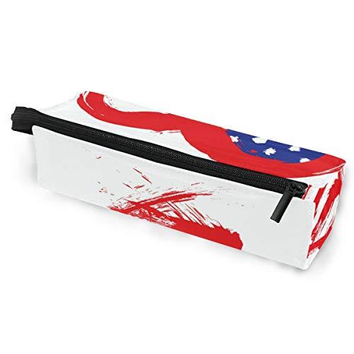 Sonnenbrillen Soft Protector Box Rhombus Federmäppchen Etui Scrawl Heart Multifunktionstasche mit Reißverschluss für Studenten, Kinder, Teenager, Mädchen, Frauen, Männer, Jungen