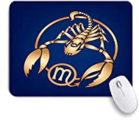 ECOMAOMI 可愛いマウスパッド さそり座の星座 滑り止めゴムバッキングマウスパッドノートブックコンピュータマウスマット