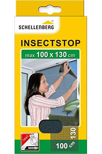 Schellenberg 50713 Zanzariera finestra per finestre fino a 100 x 130 cm, zanzariere senza...