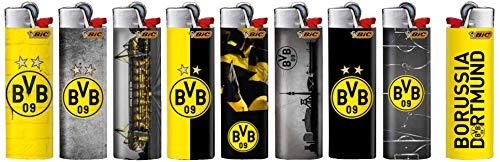 BIC 50 stück Maxi J26 Feuerzeug BVB Borussia Dortmund Fan Motiv