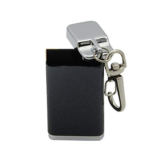 携帯灰皿 携帯式灰皿 灰皿 ステンレス 軽量 便利 コンパクト (ブラック)