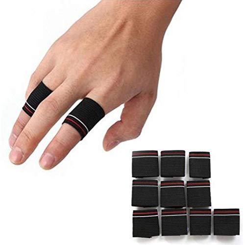 YSHTAN Finger Protector Mouwen Overige Sportuitrusting Mouwen 10 Stks Stretchy Vinger Protector Sleeve Ondersteuning Arthritis Sport Aid Guard Band