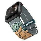 Star Wars: The Mandalorian – The Child Snow Smartwatch Band – Licencia oficial, compatible con Apple Watch (no incluido) – Se adapta a 38 mm, 40 mm, 42 mm y 44 mm
