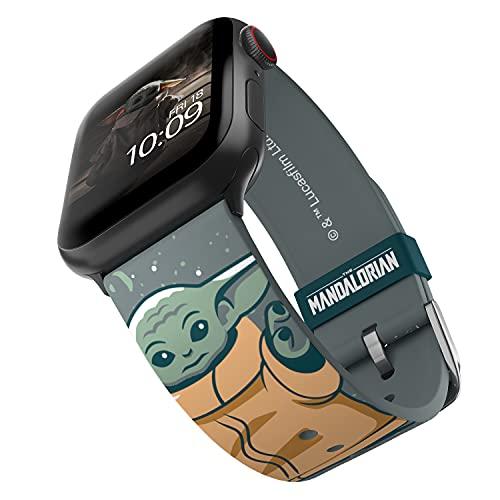 Star Wars: The Mandalorian - Banda para reloj inteligente de nieve infantil - Licencia oficial, compatible con Apple Watch (no incluido) - Se adapta a 38 mm, 40 mm, 42 mm y 44 mm