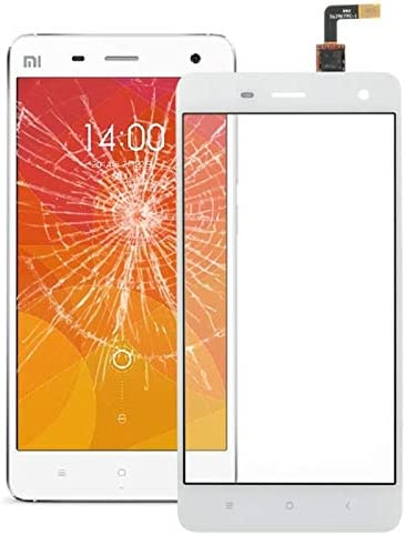 ZHANGJIALI Accesorios para Móviles Pantalla Completa Completa, Parte de la Lente de Cristal del digitalizador del Panel táctil for Xiaomi Mi4 (Blanco)