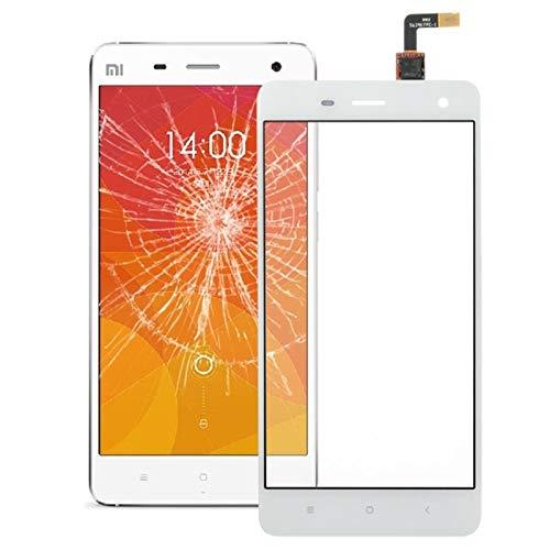Yukiki Reemplazar Panel táctil digitalizador Parte Lente de Cristal for Xiaomi Mi4 (Blanco)