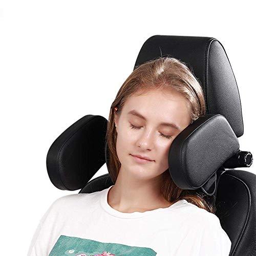 Iwinna Almohada para reposacabezas de asiento de coche, 3tIwinna Generación ajustable para el cuello, sujeción de cabeza, cojín de viaje para niños, adultos y ancianos
