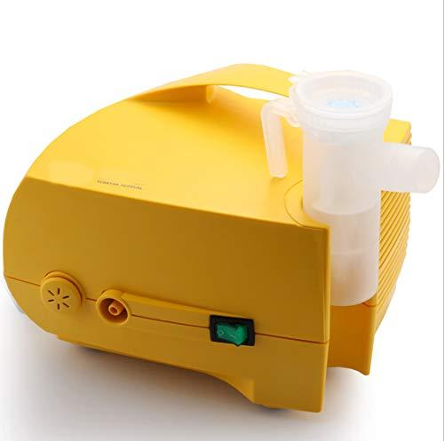 MAQRLT Compresor Personal para Adultos, niños portátil Máscara asma Salbutamol con EPOC Bronquitis Rinitis, Amarillo