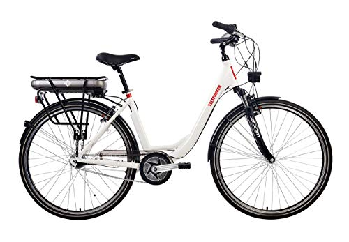 Telefunken E-Bike Damen 28 Zoll, Elektrofahrrad Alu mit 7-Gang Shimano Nabenschaltung - Pedelec Citybike, Mittelmotor 250W & 13Ah / 36V Lithium-Ionen-Akku, RC890 Multitalent