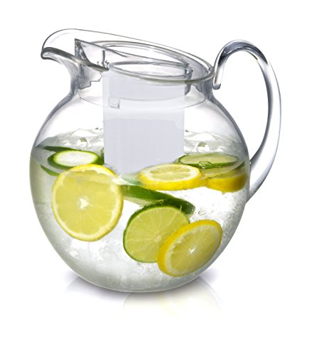 Fruit infusion pitcher with core rod
