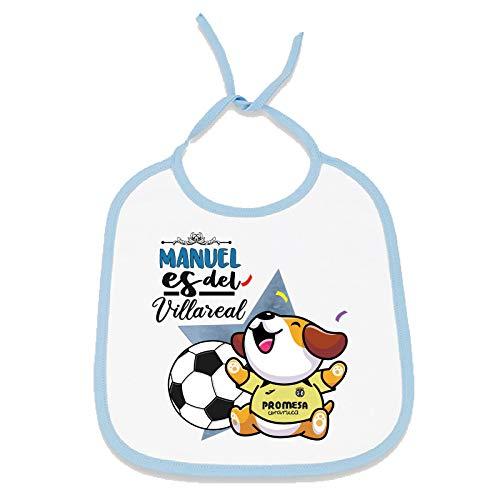 Babero personalizado nombre de bebé equipo de fútbol, niño y niña (Villarreal...