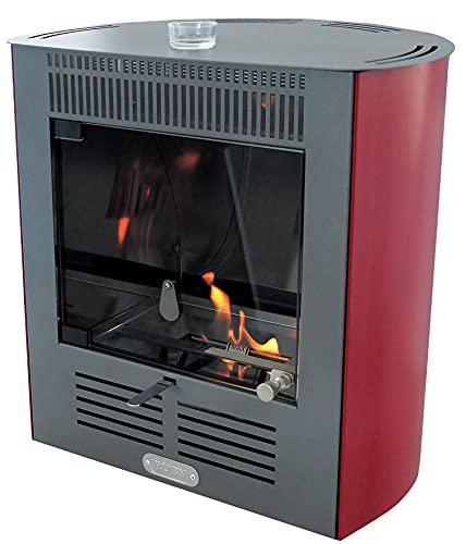 TECNO AIR SYSTEM Stufa a bioetanolo ventilata Smart - Disponibile in Diversi Colori - Fragola