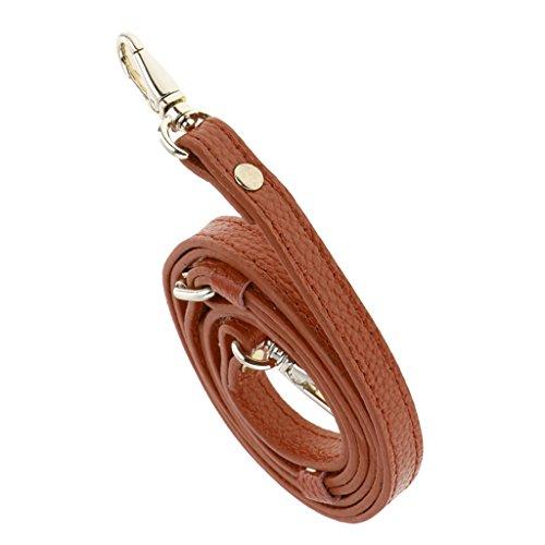 Fenteer Lederband Lederriemen Schulterriemen für Damen Taschen 110-130 cm Leder Schultergurt Umhängetaschen Trageriemen Riemen Umhängegurt - Braun
